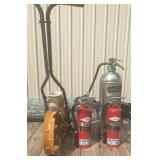 Empty Fire Extinguishers, Light, & Planter