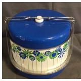 Vintage Blue Flower Cake Holder