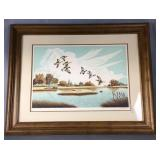Framed Return Of The Wanderers Duck Print Signed