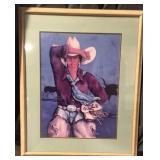 """32"""" x 39"""" Framed Western Print"""