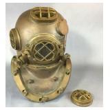 Copper Diving Helmet Damaged