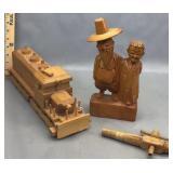 Wood Carving Train & Berarducci Beer Tap
