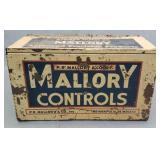 P.R Mallory Control Radio Tube Metal Box
