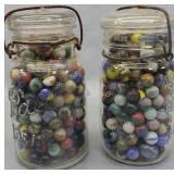 2 Quart Jars Of Marbles