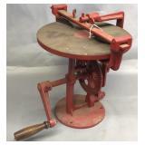 Cast Iron Hand Crank Table