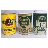 3-Vintage Oil Cans