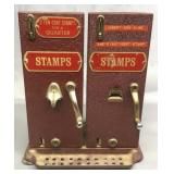 Antique Glass & Metal Postage Stamp Machine
