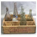 Franks Wood Crate & Advertising Bottles