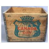 Tall Canada Dry Wood Crate