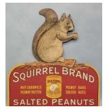 Squirrel Brand Carboard Peanuts Advertising