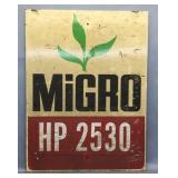 Vintage Cardboard Migro Farm Sign