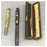 14 Kt Gold Fountain Pen & Bullet Pencil