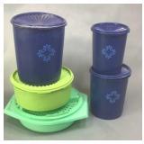 Vintage Tupperware Canister Set & Storage