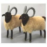 Two Wagner Kunstlerschultz Ram Mountain Sheep Toy