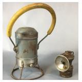 Star Headlight Lantern & Autolite Carbide Lamp