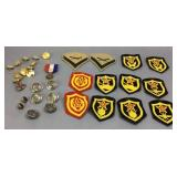 Military Buttons & Patches Incl. Old Soviet Union