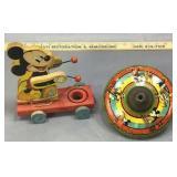Disney Mickey Pull Toy & Top