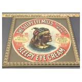 Sleepy Eye Cream Advertising Framed