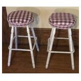 2 Americana Wooden Bar Stools