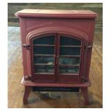Small Cast Iron Red Electric Heater