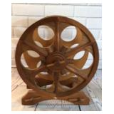 Wagon Wheel Wine Bottle Rack