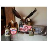 Lot of 6 - Eagle Figurines/ Wall Hanger