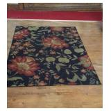 Black and Flower Rug