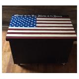 Wooden Painted Americana Chest