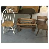 Manger, Wooden Oak Chair and Retro Inn Table