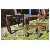 Set of 5 Wooden  Sawhorses