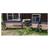 Lawn Wooden Gliders