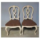 Lot of 2- Wooden Chairs w/ Cushioned Seats