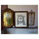 Lot of 3 - Ten Commandments & Picture of Jesus