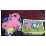 Sponge Bob Square pants tin full of misc toys