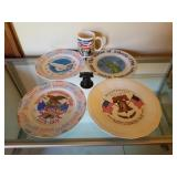 Lot of 6 - Plates/ Bell/ Mug