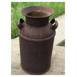 Vintage Antique Milk Can With Handles