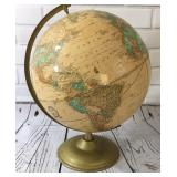 Vintage World Globe on Stand