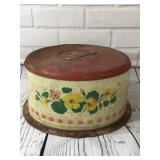 Vintage Red Cake Carrier