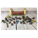 Vintage Metal Toy Cars, Dominoes, Indians