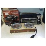 Lot of 3- Toaster Oven, Hot Plates, Single Burner