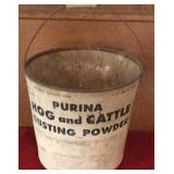 Purina Hog and Cattle Dusting Powder Bucket with
