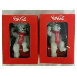2 Coca Cola Polar Bear Collectible Christmas