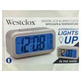 Westclox Digital LCD Alarm Clock - NEW