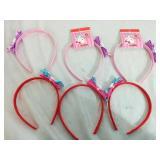 6 Hello Kitty Ribbon Head Bands - NEW