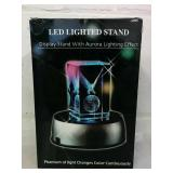 LED Glass Block Light Stand - NEW