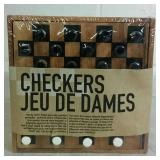 Travel Size Portable Checkers Game - NEW
