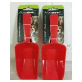 2 Animooos Pet Food Scoops - NEW