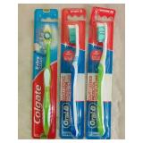 3 Assorted Tooth Brushes - NEW