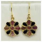 Gold plated Sterling Silver Tourmaline Earrings
