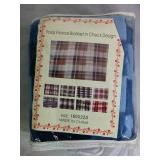 Polar Fleece Blanket in Checker Design - NEW